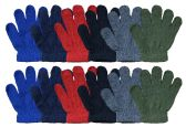 12 Pair Pack Of excell Kids Warm Winter Colorful Magic Stretch Gloves And Mittens (Pack G)