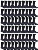 240 Pairs Case of Womens Sports Athletic Crew Socks, Wholesale Bulk Pack, by WSD