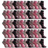 60 Pairs Womens Breast Cancer Awareness Socks, Pink Ribbon Value Pack (Ankle Socks, 60 Pairs (Ankle Socks)