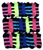 30 Pairs of  Womens Colorful Sport Ankle Socks (Assorted) (9-11)