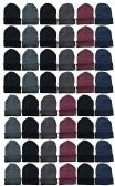 48 Pack Wholesale Bulk Winter Beanies Warm Knitted Thermal Stretch Hats, Unisex
