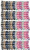 60 Pairs of excell Women's Striped Fuzzy Socks, Gripper Bottom, Sock Size 4-6