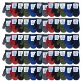 Wholesale Kids Winter Warm Stretch Mittens, Many Colors