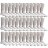 36 Pairs of Cotton Diabetic Non-Binding Crew Socks (10-13)