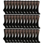 36 Pairs of Cotton Diabetic Non-Binding Crew Socks (9-11)