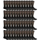 48 Pairs of Cotton Diabetic Non-Binding Crew Socks (10-13)