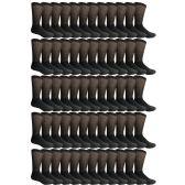 60 Pairs of King Size Cotton Diabetic Non-Binding Crew Socks (King (13-16))