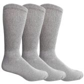 3 Pairs of King Size Multi Pack Diabetic Cotton Crew Socks Soft Non-Binding Comfort Socks (King (13-16))