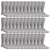 36 Pairs of King Size Cotton Diabetic Non-Binding Crew Socks (King (13-16))