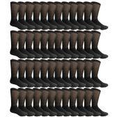 SOCKSNBULK Mens King Size Diabetic Crew Socks, Black, Size 13-16