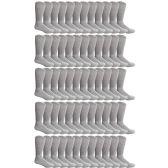 SOCKSNBULK Mens Cotton Diabetic Non-Binding Crew Socks Size 10-13 Gray