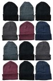 12 Pairs Value Pack excell Fleece Hats, Unisex Headwear (12 Pack Assorted)