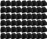 48 Pack Case Mens Womens Warm Winter Hats Wholesale Bulk, Unisex, by WSD (Black)