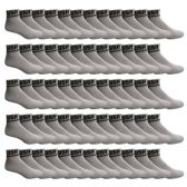 SOCKS'NBULK USA Cotton Sport Athletic Ankle Socks, Sport Sweat Socks USA Themed (Gray, 10-13)
