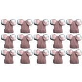 12 Units of excell Mens Womens Warm Winter Hats in Assorted Colors, Mens Womens Unisex (15 Pack Pink Mix)