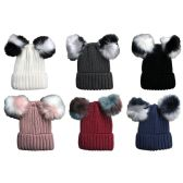 12 Units of SOCKSNBULK Mens Womens Warm Winter Hats in Assorted Colors, Mens Womens Unisex (6 Pack Assorted)