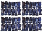 Value Pack of excell Unisex Warm Winter Fleece Gloves, Many Colors, Mens Womens, One Size (48 Pack Assorted)
