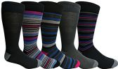 Yacht&Smith 5 Pairs of Mens Dress Socks, Colorful Fun Pattern Design, Casual (Assorted F)
