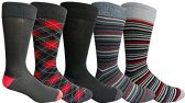 Yacht&Smith 5 Pairs of Mens Dress Socks, Colorful Fun Pattern Design, Casual (Assorted G)