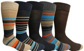 Yacht&Smith 5 Pairs of Mens Dress Socks, Colorful Fun Pattern Design, Casual (Assorted Q)