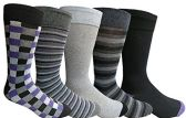 Yacht&Smith 5 Pairs of Mens Dress Socks, Colorful Fun Pattern Design, Casual (Assorted N)