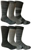 6 Pairs of Yacht&Smith Dress Socks, Colorful Patterned Assorted Styles (Pack B)