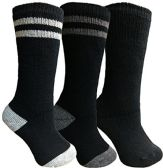 Yacht&Smith 3 Pairs Womens Brushed Socks, Warm Winter Thermal Crew Sock (3 Pairs Assorted D)