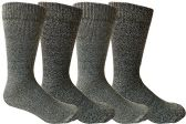 Mens Merino Wool Socks, Twisted Yarn, Comfort Knit, Premium Moisture Wicking Wool 4 pack