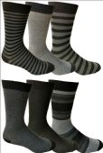 6 Pairs of Yacht&Smith Dress Socks, Colorful Patterned Assorted Styles (Pack D)