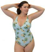 Yacht & Smith Plus Size Womens Swimsuit, Fashion One Piece Bathing Suit Tank (Island, 1X)