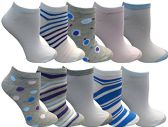 Yacht&Smith 10 Pairs Womens Low Cut Ankle Socks, Cute Patterned Design (Patterned L)