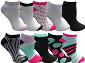 Yacht&Smith 10 Pairs Womens Low Cut Ankle Socks, Cute Patterned Design (Patterned K)