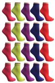 SOCKS'NBULK Womens Cushion Athletic Performance Socks, Neon Sport Socks
