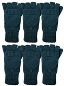 Yacht & Smith Mens Womens, Warm And Stretchy Winter Gloves (6 Pack Turquoise)