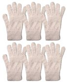 Yacht & Smith Mens Womens, Warm And Stretchy Winter Gloves (6 pack Light Pink Fuzzy) 6 pack