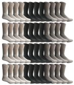 Yacht & Smith Men's Sports Crew Socks, Assorted Colors Size 10-13 Bulk Pack 36 pack