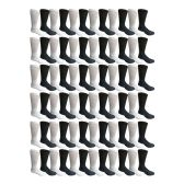 Value Pack SOCKSNBULK Wholesale Bulk Crew, Cotton Basic Sport Socks for Men Women Kids (72 Pairs Assorted, Mens 10-13 (Shoe Size 7-12))