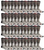 60 Pairs of Thermal Socks, Bulk Pack Thick Warm Winter Boot Sock, Extreme Weather, Mens & Womens (10-13 (Mens), 48 Pairs Assorted)