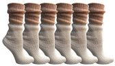 Yacht&Smith Ruffle Slouch Socks for Women, Unique Frilly Cuff Fashion Trendy Ankle Socks (6 Pair White Slouch Combo)