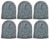Yacht & Smith Kids Winter Beanie Hat Assorted Colors Bulk Pack Warm Acrylic Cap (6 Pack Gray)