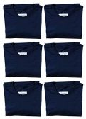 SOCKS'NBULK Mens Cotton Crew Neck Short Sleeve T-Shirts Mix Colors Bulk Pack Value Deal (6 Pack Navy, Small)