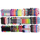 Assorted Pack Of Womens Low Cut Printed Ankle Socks.