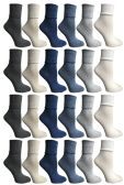 SOCKS'NBULK Womens Crew Socks, Bulk Pack Assorted Chic Bobby Socks, Multicolored 60 pack