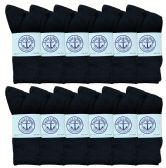 Womens SOCKS'NBULK Premium Cotton Crew Socks Black Size 9-11