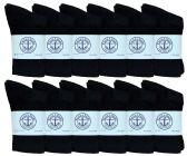 Kids SOCKS'NBULK Premium Cotton Crew Socks Black Size 4-6