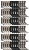 Yacht & Smith Mens & Womens Wholesale Bulk Sports Crew, Athletic Case Pack Socks, by SOCKS'NBULK (72 Pairs Assorted, Womens 9-11 (Shoe size 5-10))