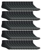 180 Pairs Case of Mens Ankle Socks, Wholesale Bulk Pack Athletic Sports Sock,Black