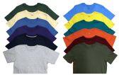 SOCKS'NBULK Mens Cotton Crew Neck Short Sleeve T-Shirts Mix Colors Bulk Pack Value Deal (12 Pack Mix, Large)