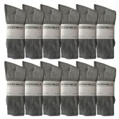 Yacht & Smith Mens Wholesale Bulk Sports Crew, Athletic Case Pack Socks, by SOCKS'NBULK (12 Pairs Gray, Mens 10-13 (Shoe Size 7-12))