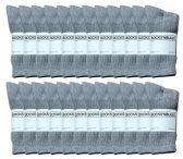 Yacht & Smith Women's Premium Cotton Crew Socks Gray Size 9-11 24 pack